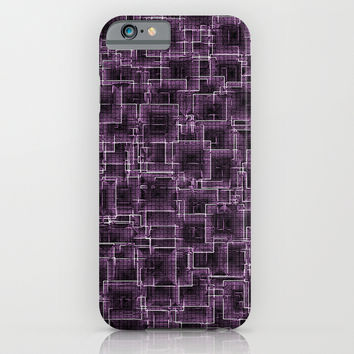 The Maze - Lilac iPhone & iPod Case by Alice Gosling