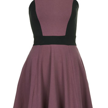 **Panelled Skater Dress by Annie Greenabelle - Topshop