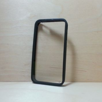 For Apple iPhone 4 / 4s Black Silicone Bumper and Clear Hard Plastic Back Case