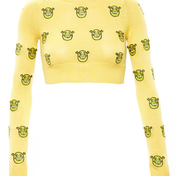 Cropped Shrek Jumper - JEREMY SCOTT