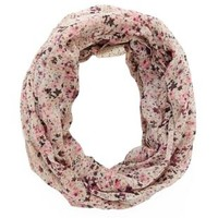 Crochet-Trim Floral Infinity Scarf by Charlotte Russe - Purple Combo