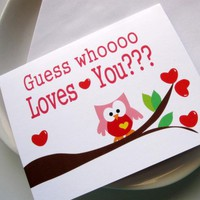 I Love You Card, Guess Whooo Loves .. on Luulla