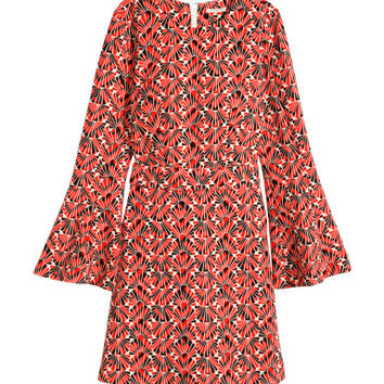H&M Dress with Trumpet Sleeves $59.95