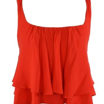 Braided Crop Top - Red