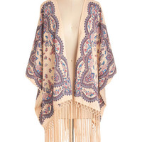 ModCloth Boho Long Short Sleeves Glide and True Jacket