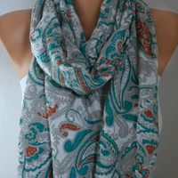 Paisley Scarf Spring Oversize Shawl Cowl Scarf Bridesmaid Gift Gift Ideas For Her Women Fashion Accessories