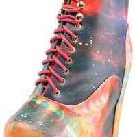 Vintage Berkeley08 Rainbow Multi Laced Tie Dye Ankle Boots and Shop Boots at MakeMeChic.com