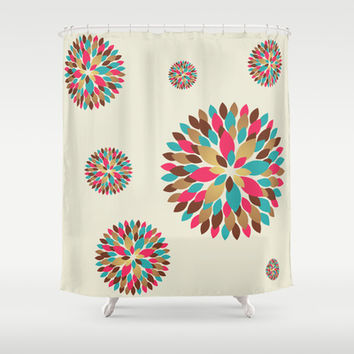 In Bloom Shower Curtain by All Is One