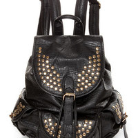 Cool Studded Backpack - Black Backpack - $54.00