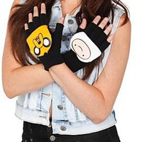 Adventure Time Finn & Jake Convertible Fingerless Gloves - 193831