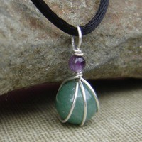 Green Aventurine and Amethyst Little Shere by nicholasandfelice