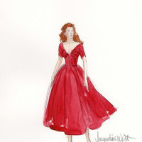 Jacqueline West Custom Red Dress - Celebrities who wear Jacqueline West Custom Red Dress - Coolspotters
