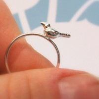 Sterling Silver Baby Sparrow Ring by Caitie by caitiesellers