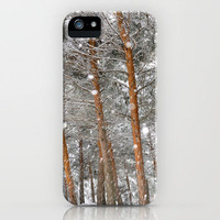 Snow in the woods iPhone Case by Guido Montañés | Society6
