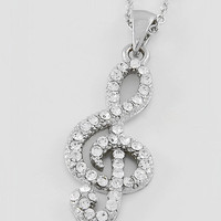 Treble Cleff Charm Necklace