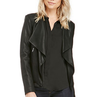 DailyLook: BB Dakota Tyne Leather Jacket in Black XS - L