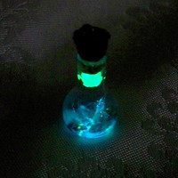 Crystal Cavern in a Bottle Tiny Glow in the Dark Cave by Clover13