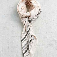 Beaded Border Stripe Blanket Scarf - Urban Outfitters