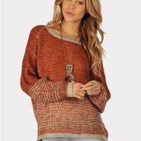Bundled Up Sweater - Rust at Necessary Clothing