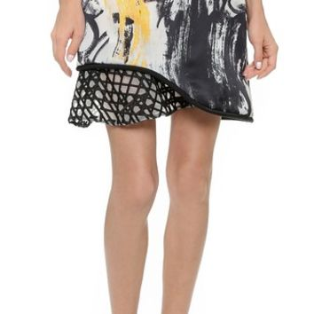 3.1 Phillip Lim Skirt with Cord and Embroidery