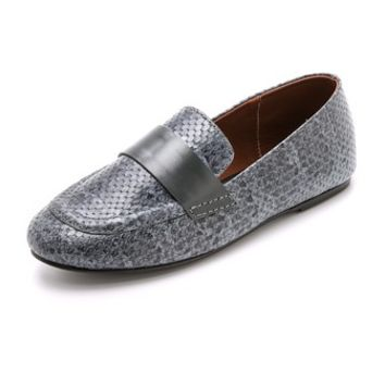 Newbark Claude Snake Embossed Loafers