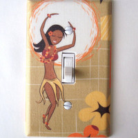 Polynesian Hula Dancer Single Toggle Switchplate Switch Plate