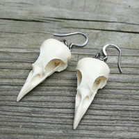 bird skull earrings - mini magpies