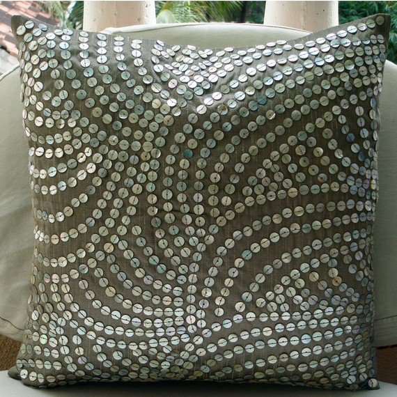 Pearl Nostalgia   Throw Pillow Covers  20x20 by TheHomeCentric