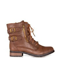 Double Buckle Combat Boots - 2020AVE