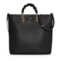 Carine Large Grained Leather Tote