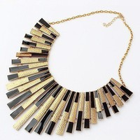 New Fashion Gothic Vintage Women Bubble Bib Party Statement Necklace