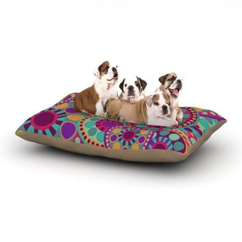"Kess InHouse Nika Martinez ""Valencia"" Pink Teal Dog Bed, 30 by 40-Inch"