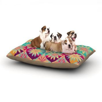 "Kess InHouse Nika Martinez ""Happy Flowers"" Floral Abstract Dog Bed, 30 by 40-Inch"