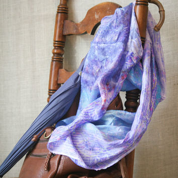 Indus River...hand dyed, artisan, infinity style, silk scarf. Eco-dyed using recycled silk, wearable art.