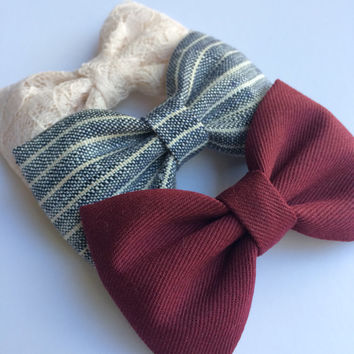 Beautiful on trend Seaside Sparrow hair bows for her. Hair bow gift. accessory girl hair bow hair clip girl gift for her hair accessory girl