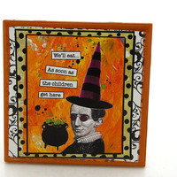 Halloween Decor Witch Funny Sign by LennyMud on Etsy