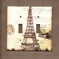 Eifel Tower Double Switchplate cover by TurnMeOnArt on Etsy