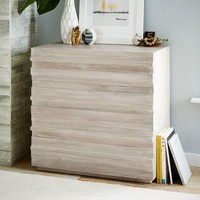 Stria 3-Drawer Dresser - Cerused White