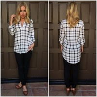 Grid Lock Plaid Blouse