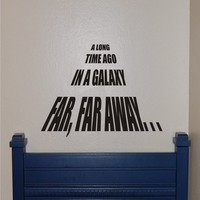 Star WarsA Long Time Ago vinyl Wall Decal by homesweetwalls