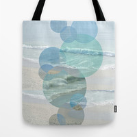 Shoreline Circles Tote Bag by Catherine Holcombe