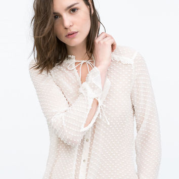 Dotted swiss blouse