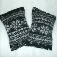 Snowflake Hand Warmers Wool Pocket Warmers