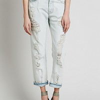 NSF Destroyed Boyfriend Jean at Free People Clothing Boutique