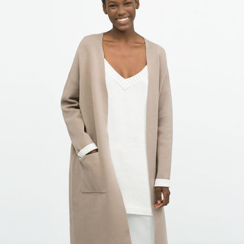 Collarless double-sided coat