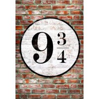 Amazon.com: Platform 9 3/4 King&#x27;s Cross Poster Print - 11x17: Home &amp; Garden