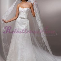 Vintage A-line Sweetheart Organza Beach Wedding Dress-$358.99-ReliableTrustStore.com