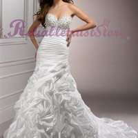 Design A-line Strapless Lace Beach Wedding Dress-$358.99-ReliableTrustStore.com