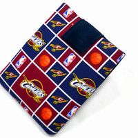 Hand Crafted Tablet Case From Licensed Cleveland Cavaliers  Basketball Fabric / Case for: iPad Mini,Kindle Fire HD 7,Samsung Galaxy 7, Nook