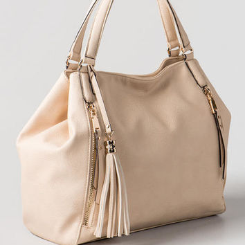 Georgia Double Zipper Tote